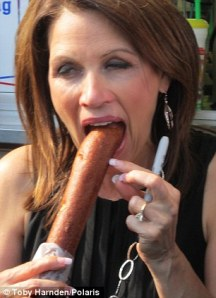 Michele Bachmann gags on it.