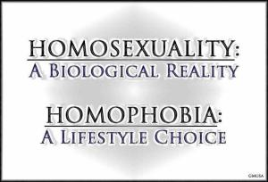 Homosexuality Reality Homophobia Choice.