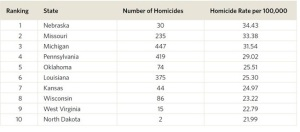 From PolicyMic.com and http://www.vpc.org/studies/blackhomicide14.pdf