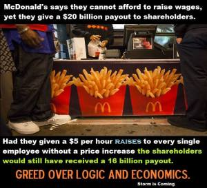 McDonald's Raise For ShareHolders.