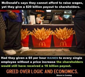 McDonald's Raise For ShareHolders.